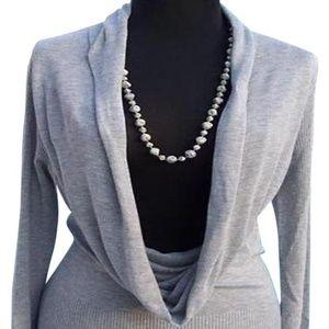 Silk Blend OverSize Collar New Tunic Banded Bottom